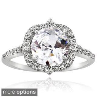 Icz Stonez Silver 4ct TGW Cubic Zirconia Ring