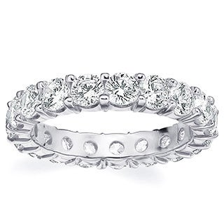 Amore Platinum 3ct TDW Shared Prong Diamond Wedding Band (G-H, SI1-SI2)