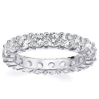 Amore Platinum 3ct TDW Shared Prong Diamond Wedding Band
