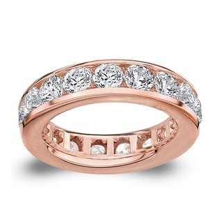 Amore 14k or 18k Rose Gold 5ct TDW Channel-set Diamond Wedding Band (G-H, SI1-SI2)