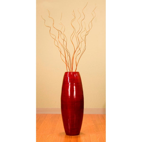 28-inch Bamboo Cylinder Vase and Branches