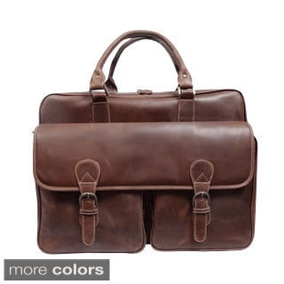 Sunset Voyager 17-inch Full Hide Leather Laptop Computer Briefcase