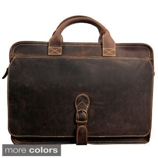 Canyon Outback Mojave Distressed Leather 15-inch Laptop  Briefcase