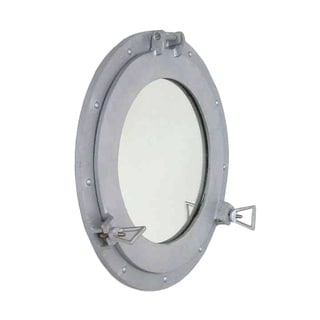 Steel Finished Porthole Mirror