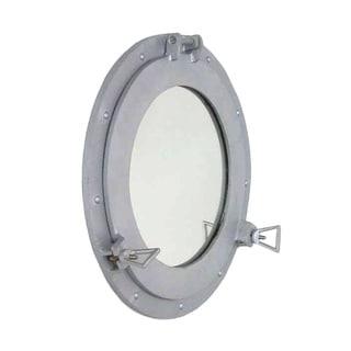 Steel Finished Porthole Mirror