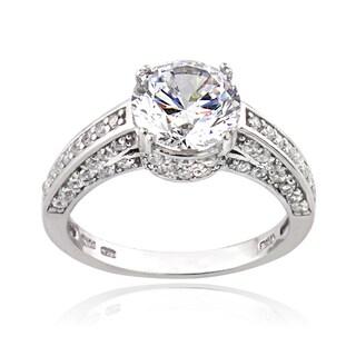 Icz Stonez Silver 4 1 2ct TGW Cubic Zirconia Ring