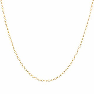 Sterling Essentials Yellow Goldplated Silver Rolo Chain Necklace (2 mm)