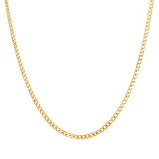 Sterling Essentials Yellow Goldplated Sterling Silver Curb Chain (3.5 mm)