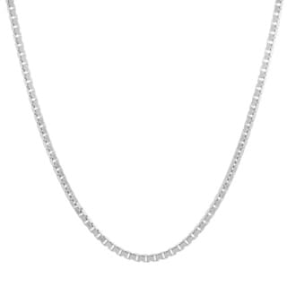 Sterling Essentials Sterling Silver Venetian Box Chain