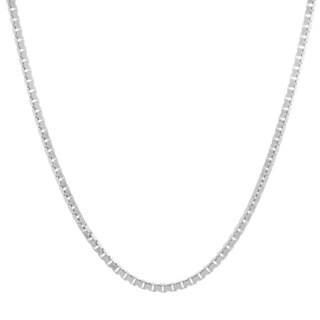 Sterling Essentials Sterling Silver Venetian Box Chain - White