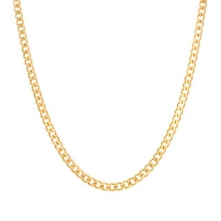 Sterling Essentials Yellow Goldplated Sterling Silver Curb Chain (5.5 mm)