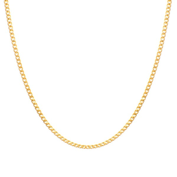 Sterling Essentials Yellow Goldplated Sterling Silver Curb Chain (3 Mm)