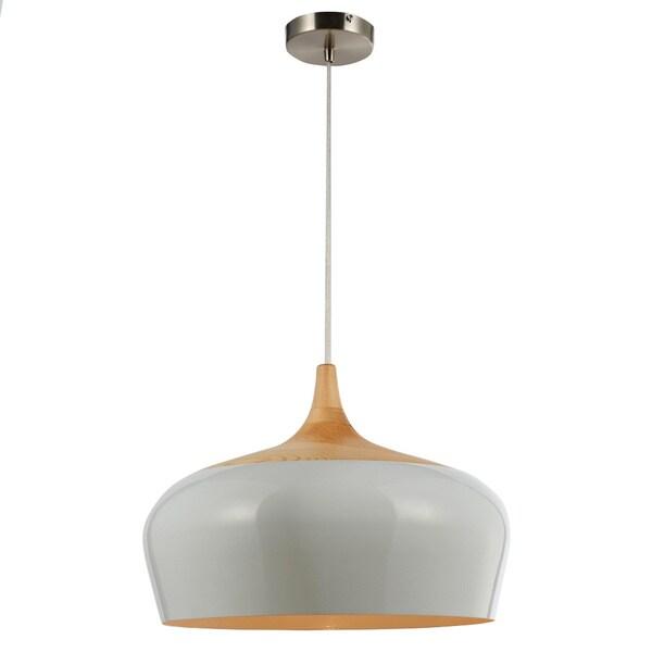 Legion Furniture White Wood Ceiling Lamp