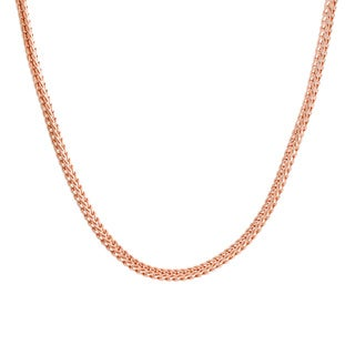 Sterling Essentials Rose Goldplated Sterling Silver Foxtail Chain (3.5 mm)