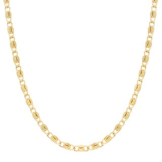 Sterling Essentials Yellow Goldplated Silver Snail Chain (2 mm)