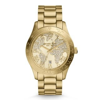 Michael Kors Women's MK5959 'Layton' Yellow Goldtone Watch