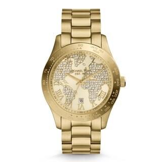 Michael Kors Women's 'Layton' Yellow Goldtone Watch