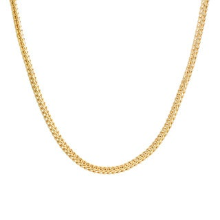Sterling Essentials Yellow Goldplated Sterling Silver Foxtail Chain (3.5 mm)