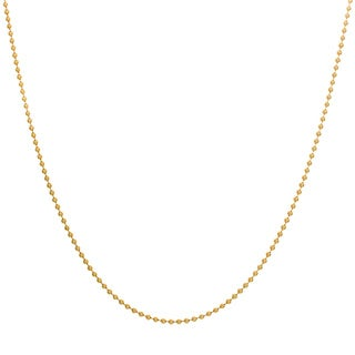 Sterling Essentials Yellow Goldplated Silver Bead Chain (1.5 mm)