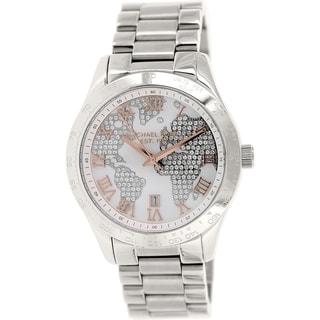 Michael Kors Women's MK5958 'Layton' Silvertone Globe Watch