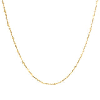Sterling Essentials Yellow Goldplated Silver Box and Bead Chain (2 mm)