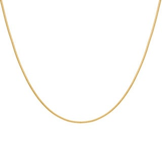 Sterling Essentials Yellow Goldplated Silver Snake Chain Necklace (1.5 mm)