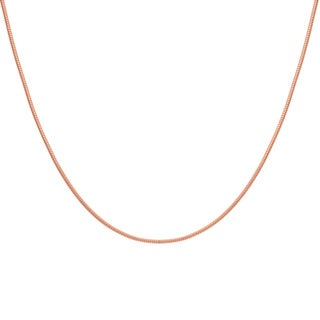 Sterling Essentials Rose Goldplated Silver Snake Chain Necklace (1.5 mm) (3 options available)