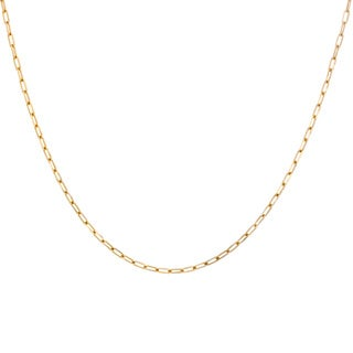 Sterling Essentials Yellow Goldplated Silver Boston Link Chain Necklace (2 mm)
