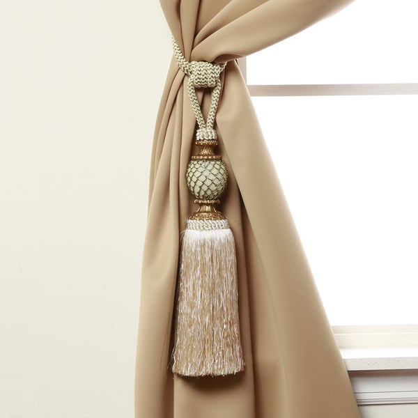Aurora Home Bella Tassel Curtain Tie Back Pair - Free Shipping On Orders Over $45 - Overstock ...