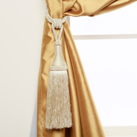 "Aurora Home Modern Tassel Curtain Tie Back Pair - 8"""