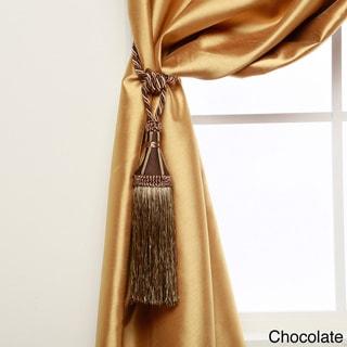 Aurora Home Modern Tassel Curtain Tie Back Pair