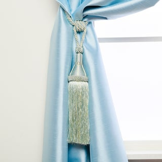 Aurora Home Modern Tassel Curtain Tie Back Pair (Option: Blue)