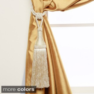 Aurora Home Modern Tassel Curtain Tie Back Pair - 8""