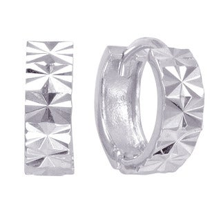 Sterling Silver Laser-cut Endless Hoop Earrings