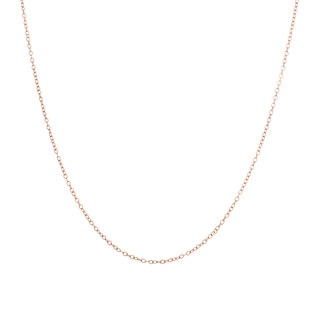 Sterling Essentials Rose Goldplated Silver Pendant Chain Necklace (.50 mm)