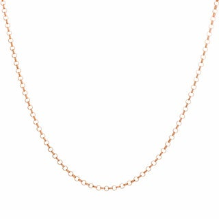 Sterling Essentials Rose Goldplated Silver Rolo Chain Necklace (2 mm)
