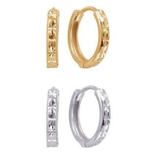 Sterling Silver Laser-cut Hoop Earrings