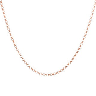 Sterling Essentials Rose Goldplated Silver Rolo Chain Necklace (1.5 mm)