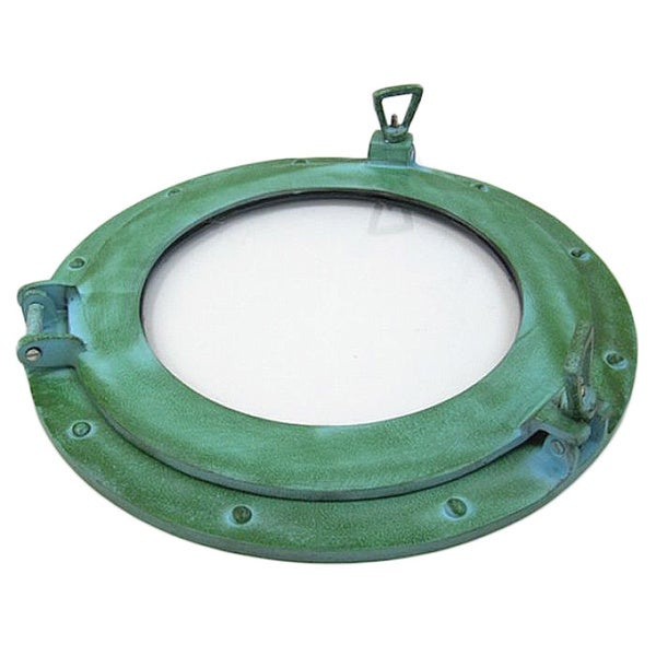 Shop Green Finish Port Hole Aluminum Mirror Free