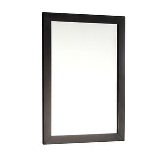 "WYNDENHALL Salem Bath Vanity Black Decor Mirror - 22""w x 0.8""d x 30""h"