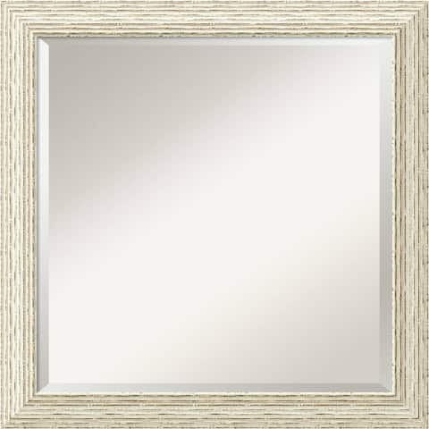 The Gray Barn Wilset Square Country Whitewash Wall Mirror