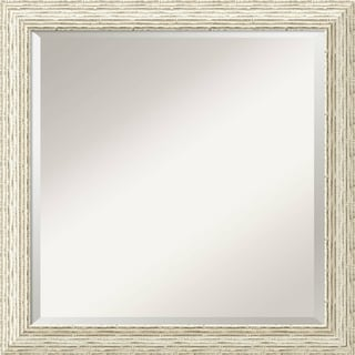 The Gray Barn Wilset Square Country Whitewash Wall Mirror - square - 24 x 24-inch