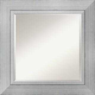 Wall Mirror Square, Romano Silver 28 x 28-inch