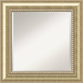 Wall Mirror Square, Astoria Champagne 27 x 27-inch - Antique Black - square - 27 x 27-inch