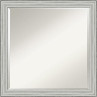 Wall Mirror Square, Bel Volto Silver 23 x 23-inch - Silver/Black - 23 x 23 x 1.462 inches deep