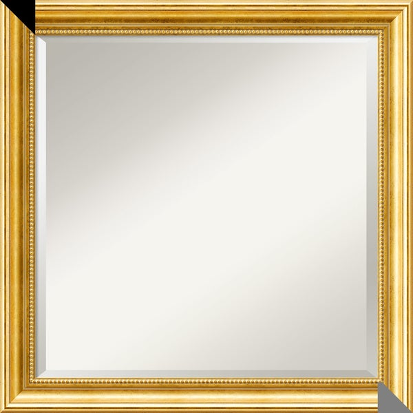 Wall Mirror Square, Townhouse Gold 24 x 24-inch