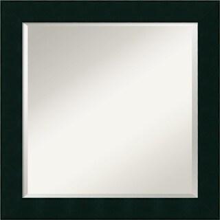 Wall Mirror Square, Tribeca Black 24 x 24-inch