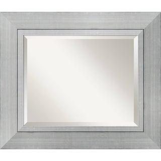 Wall Mirror Medium, Romano Silver 24 x 28-inch - Silver/Black