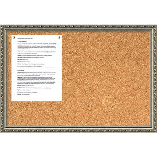 Parisian Silver 26 x 18 Medium Message Cork Board