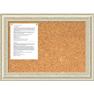 Country Whitewash 28 x 20 Medium Message Cork Board